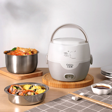 Mini Electric Lunch Box Heating Rice Cooker Thermal 2 Layers Portable Food Steamer Cooking Container Meal Lunchbox Warmer 220V цена и фото