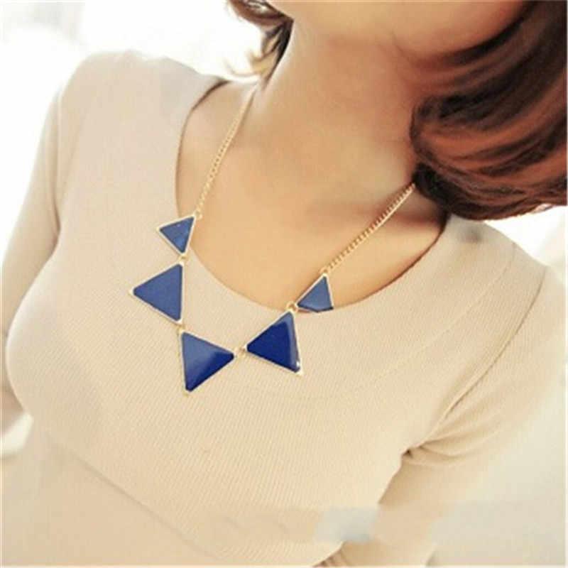 LNRRABC золотая цепочка женский треугольник панк воротник, свитер, цепь короткое ожерелье ожерелья женские ювелирные изделия