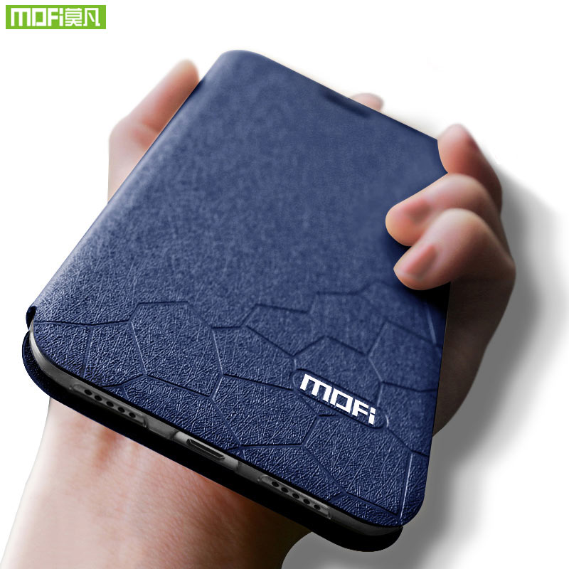 For xiaomi mi 8 lite case cover Mofi For xiaomi 8 lite global case Silicone funda case for xiaomi 8 lite case Flip Leather