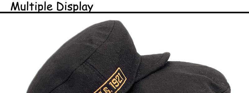 13bb5b72109 Winter Warm Military Hat Men Black Color Flat Caps Women Embroidery ...