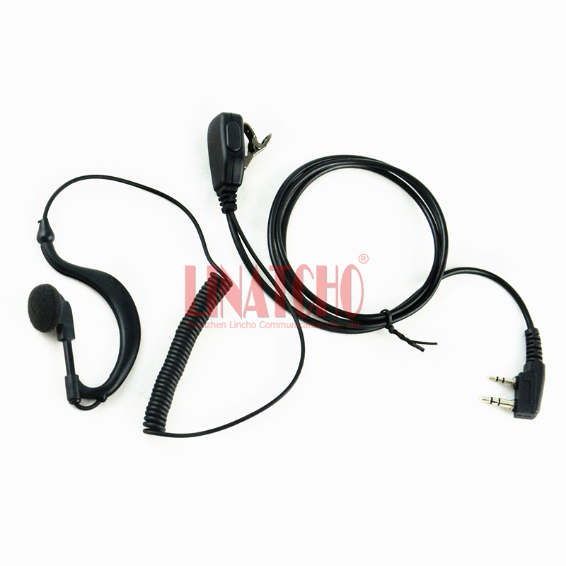 TK-430 TK-431 TK-715 Two Way Radio Walkie Talkie Retractable Single Earphone With Curliness Wire And Iron Clip