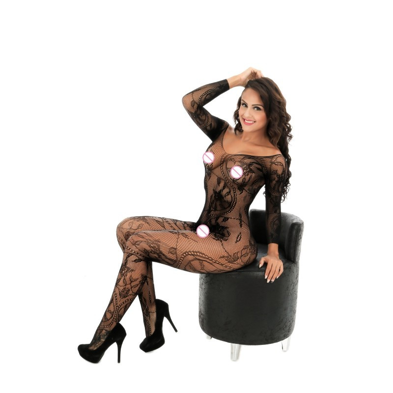 Buy Sexy Body Stockings Sex Costumes Women Black Jacquard Mesh Bodystocking Hot Erotic Porn Sexy Lingerie Baby Dolls Bodysuit