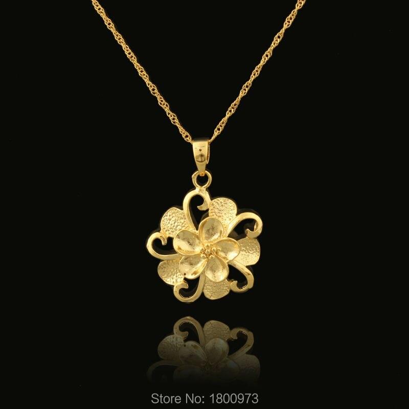 Wholesale 22k Gold Color Beautiful Flower Design Fashion