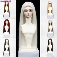 BJD Wigs Hair for Size 1/6 1/4 1/3 Dolls High Temperature Fiber Long Straight Natural Color Wigs for SD/BJD Dolls high quality red wine long wave hair wigs for 1 8 bjd dolls