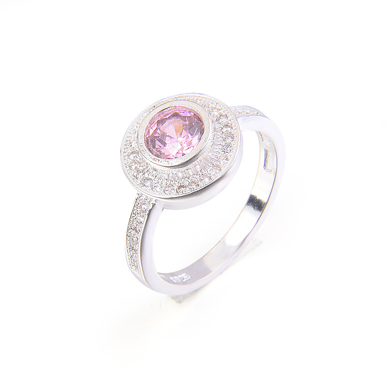Engagement rings for women gift for valentine luxury silver color valentine 39 s day purple Cubic Zircon luxury wedding band ring in Engagement Rings from Jewelry amp Accessories