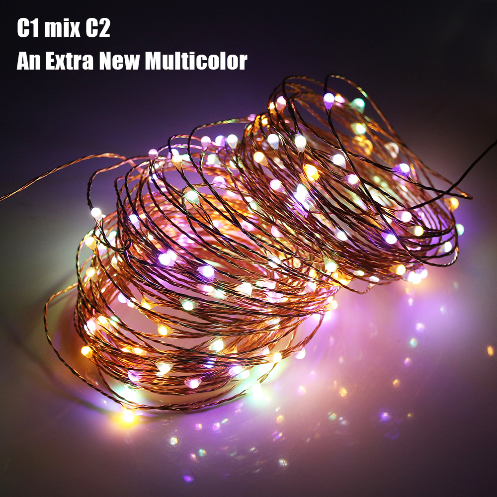 20M 200LEDs Dual Color Copper Wire LED String Lights Starry Lights For wedding New Year Fairy Lights UL CE Certified US EU UK in LED String from Lights Lighting