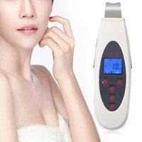 Ultrasonic Ultrasound Skin Scrubber DC 15V 7W 1.7m Facial Dermabrasion Peeling Portable Device Massage Face Mild Soft Vibration