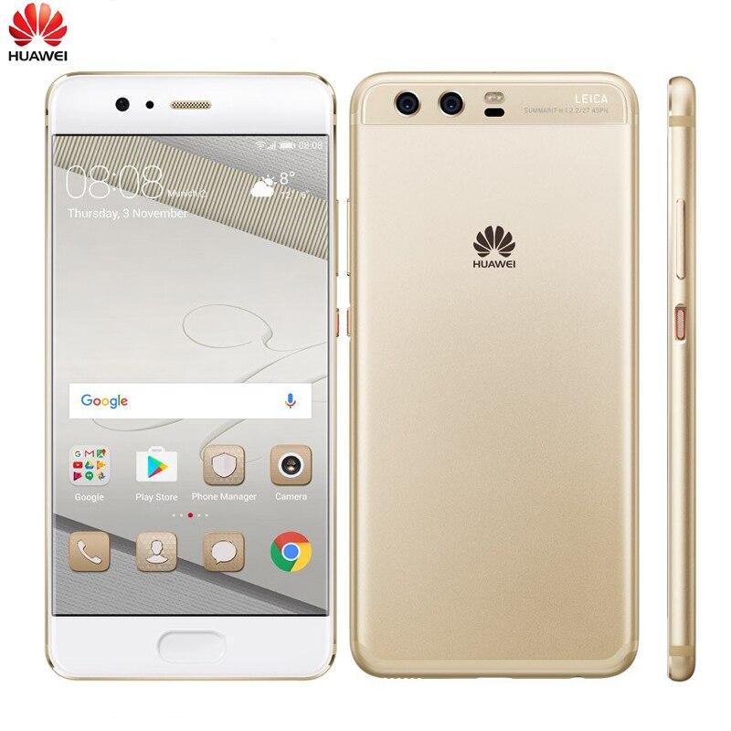 Original Huawei P10 128GB Global Firmware Full 4G LTE Band Mobile Phone Octa Core 2.4GHz 5.1 inch Dual Rear Camera 16+12MP