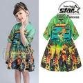 Китайский Стиль Костюм Младенца Девушка Модная одежда Vestidos Infantis QIPAO Cheongsam Классической Традиционной Дети детские Платья