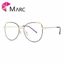 MARC 2018 NEW WOMEN Reading Optical Black Sil glasses classic Plain glass Golden spectacles Flower clear Frames 12-18016