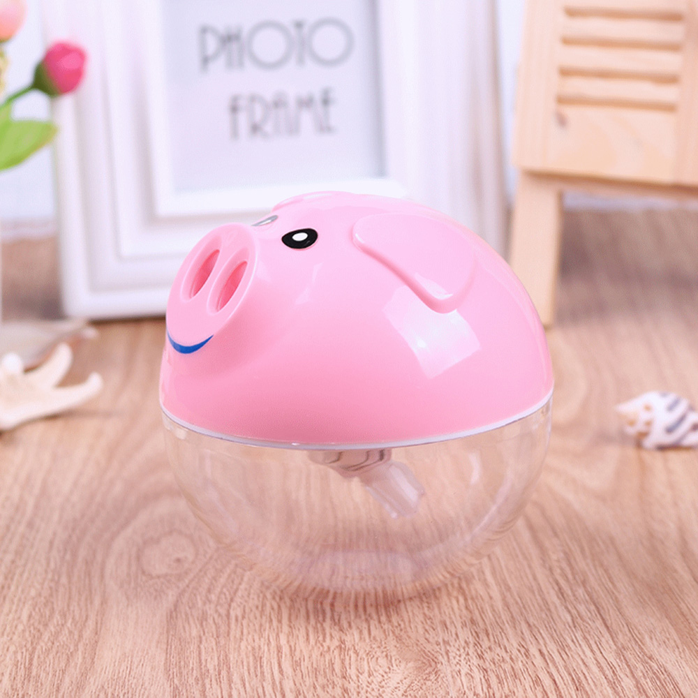 Mini Pig Design USB Portable Air Humidifier Ultrasonic Cute Cartoon Essential Oil Aroma Diffuser Home Office Mist Maker Fogger cute mini whale design usb portable air humidifier ultrasonic cartoon essential oil aroma diffuser home office mist maker fogger