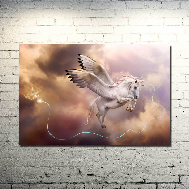 Horse Running Sunset Nature Animals Art Silk Poster Print 13x20 24x36 inch Nature Picture for Kids Home Decoration 023