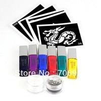 Tattoo Designs Free Sleeve Tatoo Moonlight Glue 1set/lot 6 Colors Temporary tattoos Arm Chest Tattoos