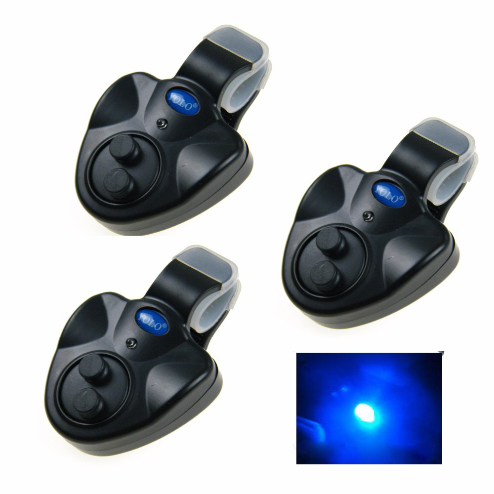 3pcs/lot LED Fishing Fish Bite Alarm Carp Coarse Bite Alarm Fishing Signal Device Fishing Alarm