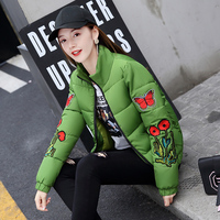 New 2017 Russia Style Fashion Winter Parka Colorful Butterfly Embroidery Ladies parka Jackets Patch Designs Womens parka Coats