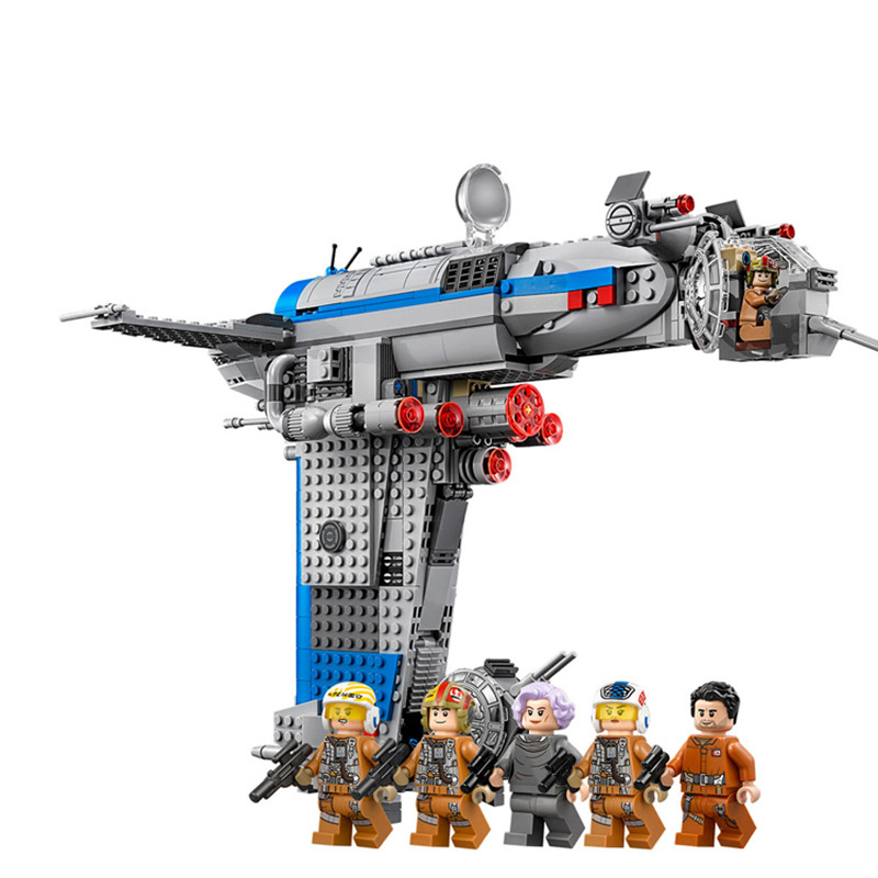 The Resistance Bomber Compatible With legoiying Starwars <font><b>75188</b></font> 873Pc Last Jedi Building Block Toys 05129 Without Box image