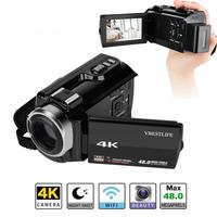 VBESTLIFE 4K Wifi Digital Camera Night Vision Camcorder 16X Zoom 48MP 3 with Battery camera profissional