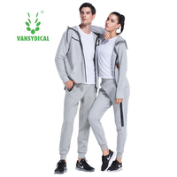 2pcs Cotton Lover Sport Tracksuits Jacket Pants Running Fitness Training Suits Winter Sportswear Joggings Sets