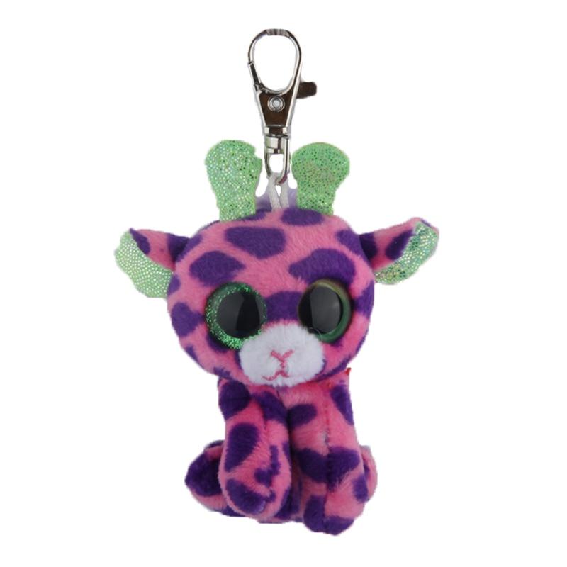 Elsadou Ty Beanie Боос большие Средства ухода для век плюшевые фиолетовый Жирафы брелок игрушка кукла ty подарок для маленьких детей