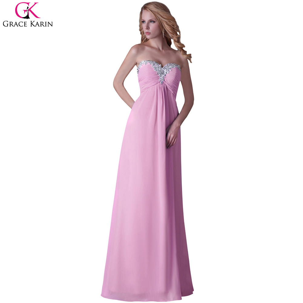 Real Sample Grace Karin Long Chiffon Vestido De Baile Wedding Party ...