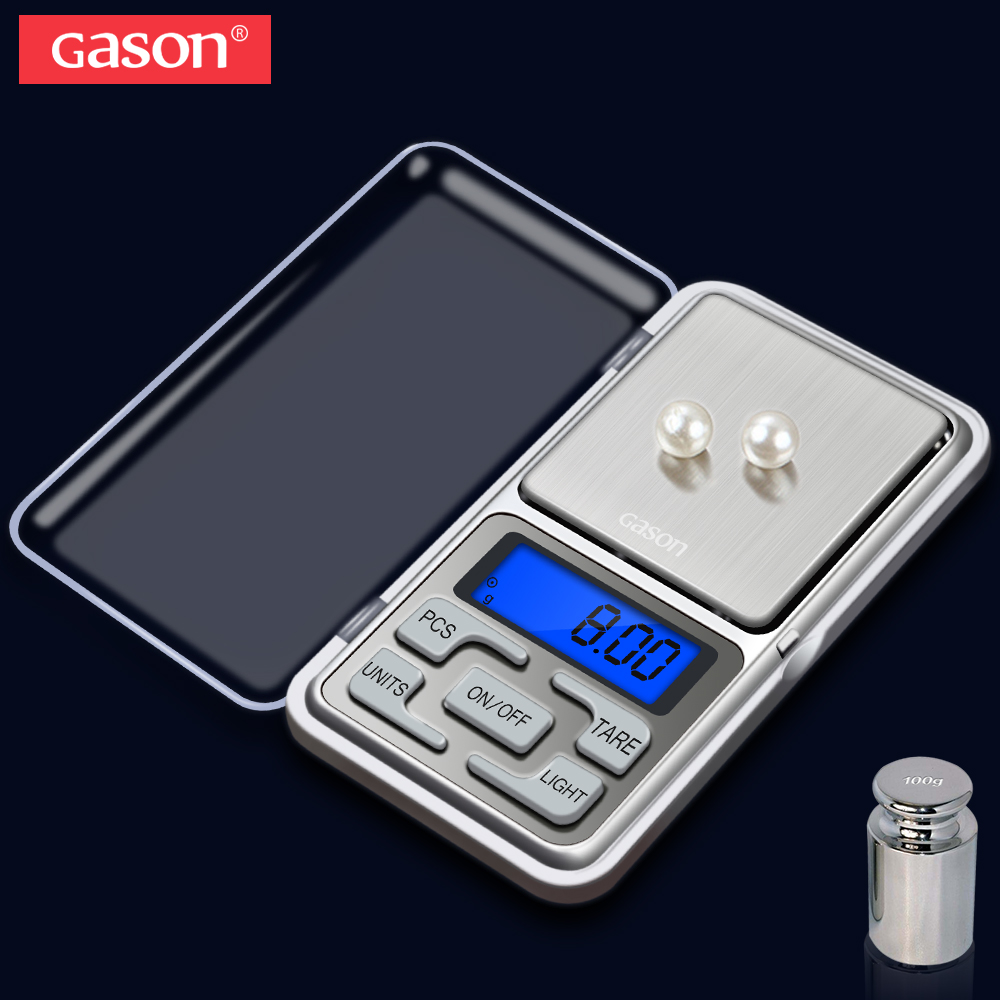 GASON Z4 Jewelry <font><b>Scale</b></font> For Gold Weight Hight Precision Mini <font><b>Pocket</b></font> Electronic <font><b>Digital</b></font> Balance LCD Display Grams (100g/<font><b>0.01g</b></font>) image