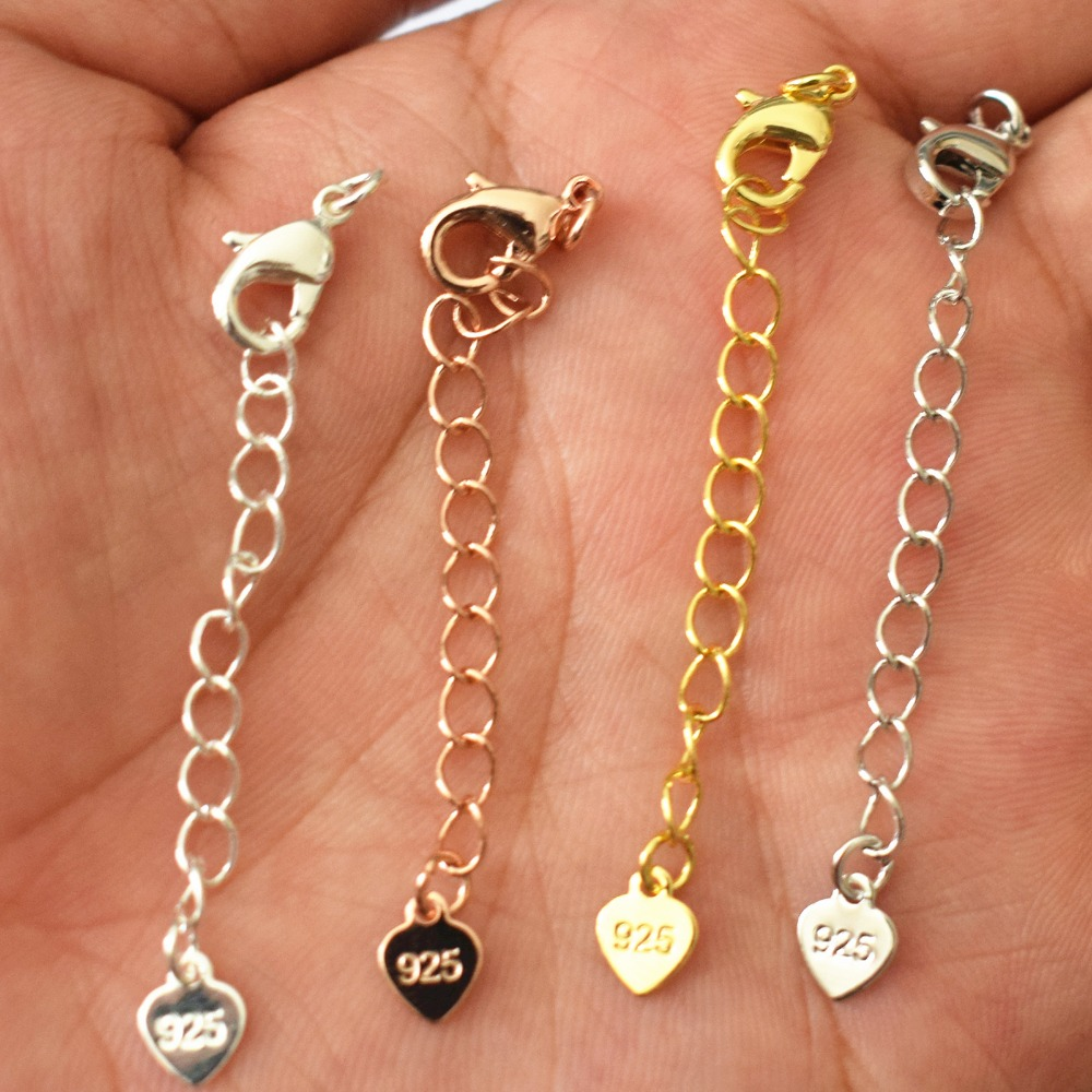 4Colors Additional Long Chain Of Necklaces And Bracelets Chain Length 6CM Jewelry Accessories