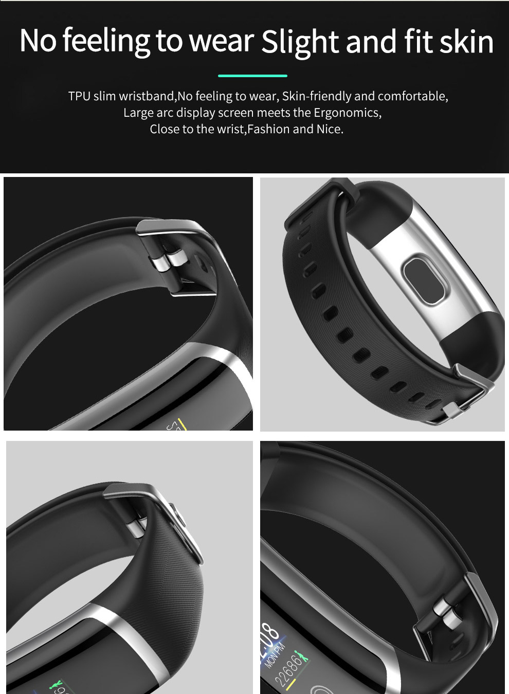 Fitness Esporte Pressão Arterial Smartt IP67 real-time