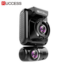 Ruccess DVR 2.0 GPS Car Camera Dual Lens Dash Cam Full HD 1080P Recorder 150 Degree Night Vision G-sensor WDR