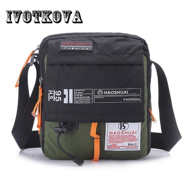 46a7716c4f36 IVOTKOVA High Quality Men Nylon Crossbody Bag Multifunction Male Shoulder  Handbag Brand Messenger Bag Travel Drop