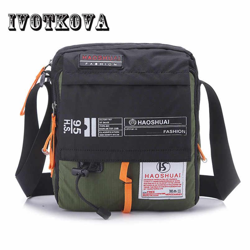 IVOTKOVA 高品質男性ナイロンクロスボディバッグ多機能男性ショルダーバッグハンドバッグブランドメッセンジャーバッグ旅行ドロップ太ももポーチ
