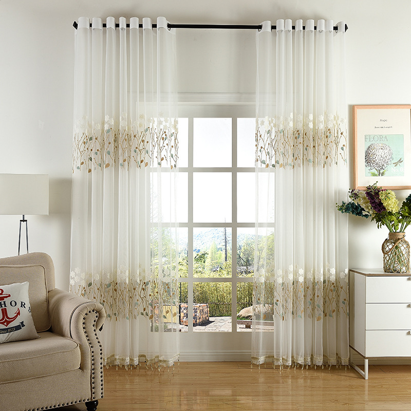 Curtains For Living Dining Room Bedroom Korean Simple