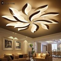 Acylic LED Chandelier For Living Room Bedroom White Simple Plafon Led Chandelier Lamps Home Indoor Lighting Fixtures AC85 260V