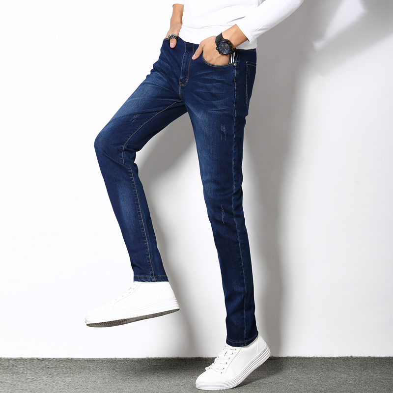 Mens fashion new jeans classic design with elastic thin section new mens fashion mens jeans machine washable