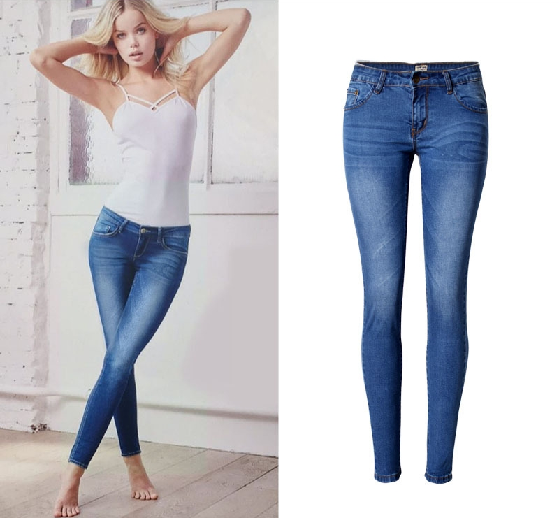 Hot Sale Women Slim Fit Stretch Jeans Casual Cowboy Pencil Denim Jeans Large Size Clothing Brand Jeans For Female