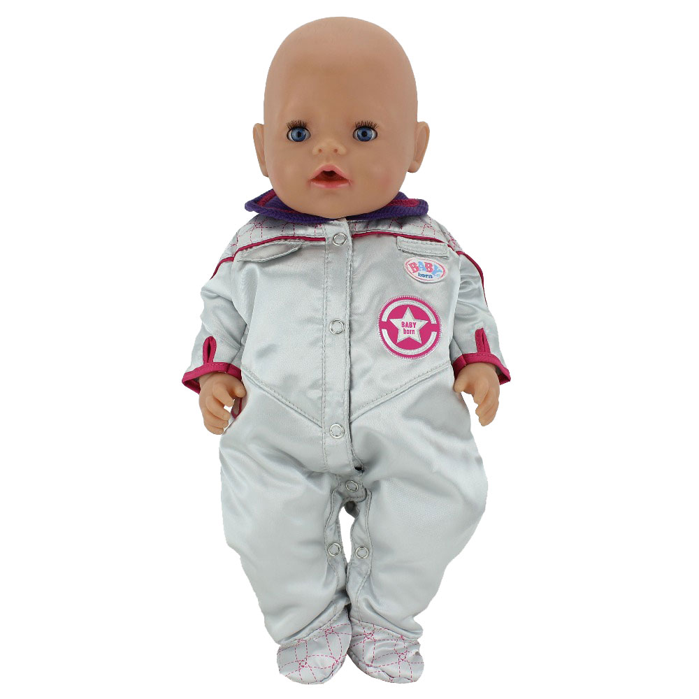Space Suit Fit For 17 Inch Zapf Baby Born Dolls 43cm Zapf Doll Clothes summer set for 18 american girl doll bikini cap summer swimming suit with hat also fit for 43cm baby born zapf doll clothes