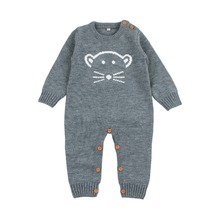 Infant Baby Girl Boy Romper Jumpsuits Cute Bear Knit Newborn Bebes Animal Pajamas Long Sleeve Spring Toddler Kids Overalls 0-18M new 2013 spring autumn baby clothing kids romper baby long sleeve romper newborn baby girl cute footsies overalls baby wear