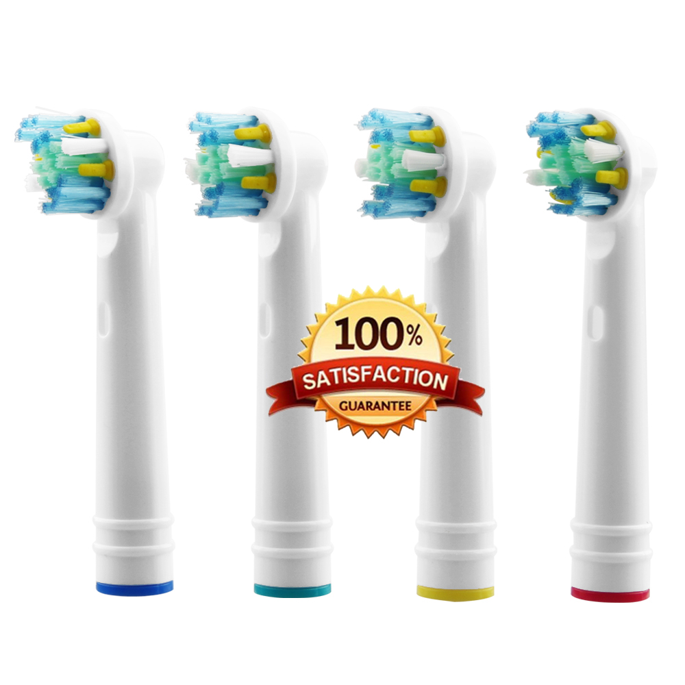 4pcs Replacement Brush Heads For Oral-B Electric Toothbrush Advance Power/Pro Health/Triumph/3D Excel/Vitality Precision Clean