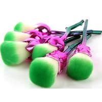 6ピース/セットプロフェッショナル新しいローズフラワー形状化粧ブラシセット化粧ツール輪郭フェイスパウダーアイシャマーメイドブラ
