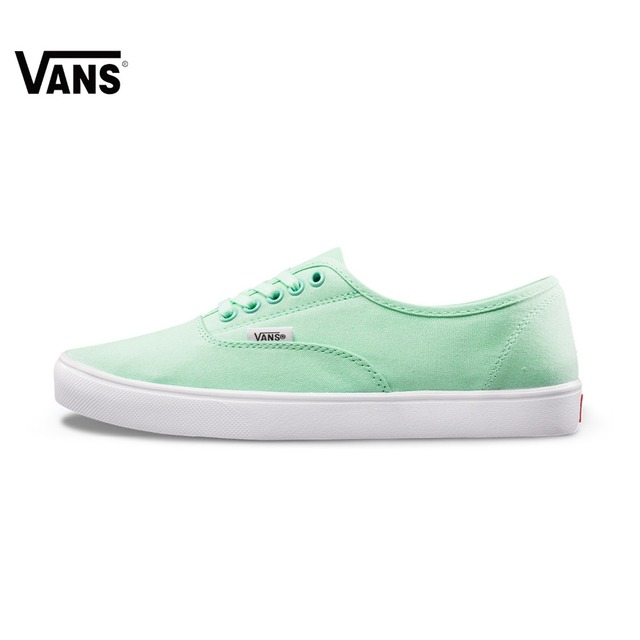 Summer Mint Green Women Vans Sneakers Low-top Trainers Women Sports  Skateboarding Shoes Breathable Classic Canvas Vans Shoes e841a8c39