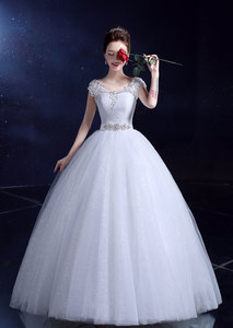 Image 4 - אופנה קלאסי רומנטי אדום חתונת שמלה מתוקה אורגנזה פניני Ruched חתונה שמלות יפה מסיבת כדור שמלה מותאם אישית