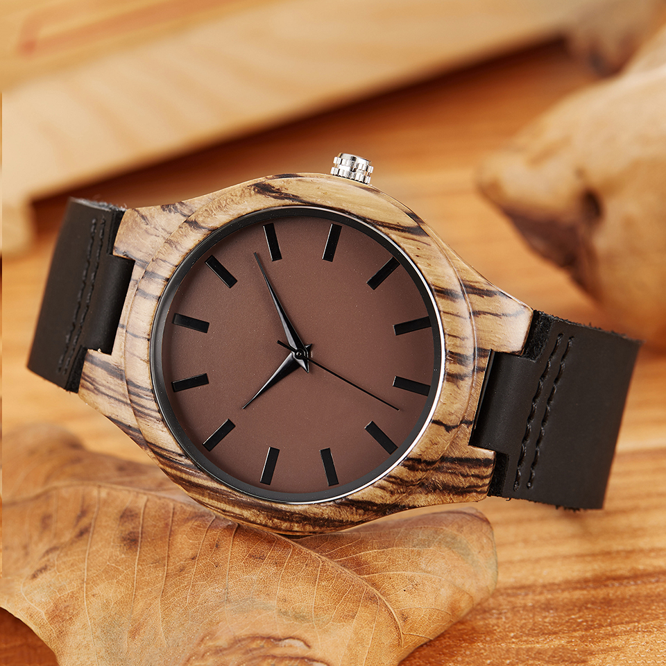 Fashion Wood Watch for Men Ladies Minimalist Wristwatches Original Wooden Bamboo Watches Engrave Male Wrist Clock Montre Homme цена