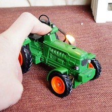American farm tractor model ornaments with lighter lighter gift driver,Craft gift. Decorative metal lighters