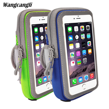 Wangcangli Sports Running Armband Bag Case Cover Running armband Mobile phone Universal Outdoor Sport Phone Arm Bag general use trendy outdoor sports armband black