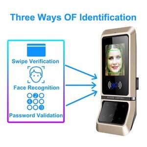 Image 3 - 顔のアクセス制御システム顔認識ドアロックバイオメトリックシステム USB タイムレコーダーレコーダーオフィス従業員機器