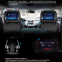 RoverOne 2 шт. X 9 дюймов Автомобильный подголовник монитор TFT ЖК-плеер подголовник DVD экран с сенсорным экраном+ 2 шт ИК наушники