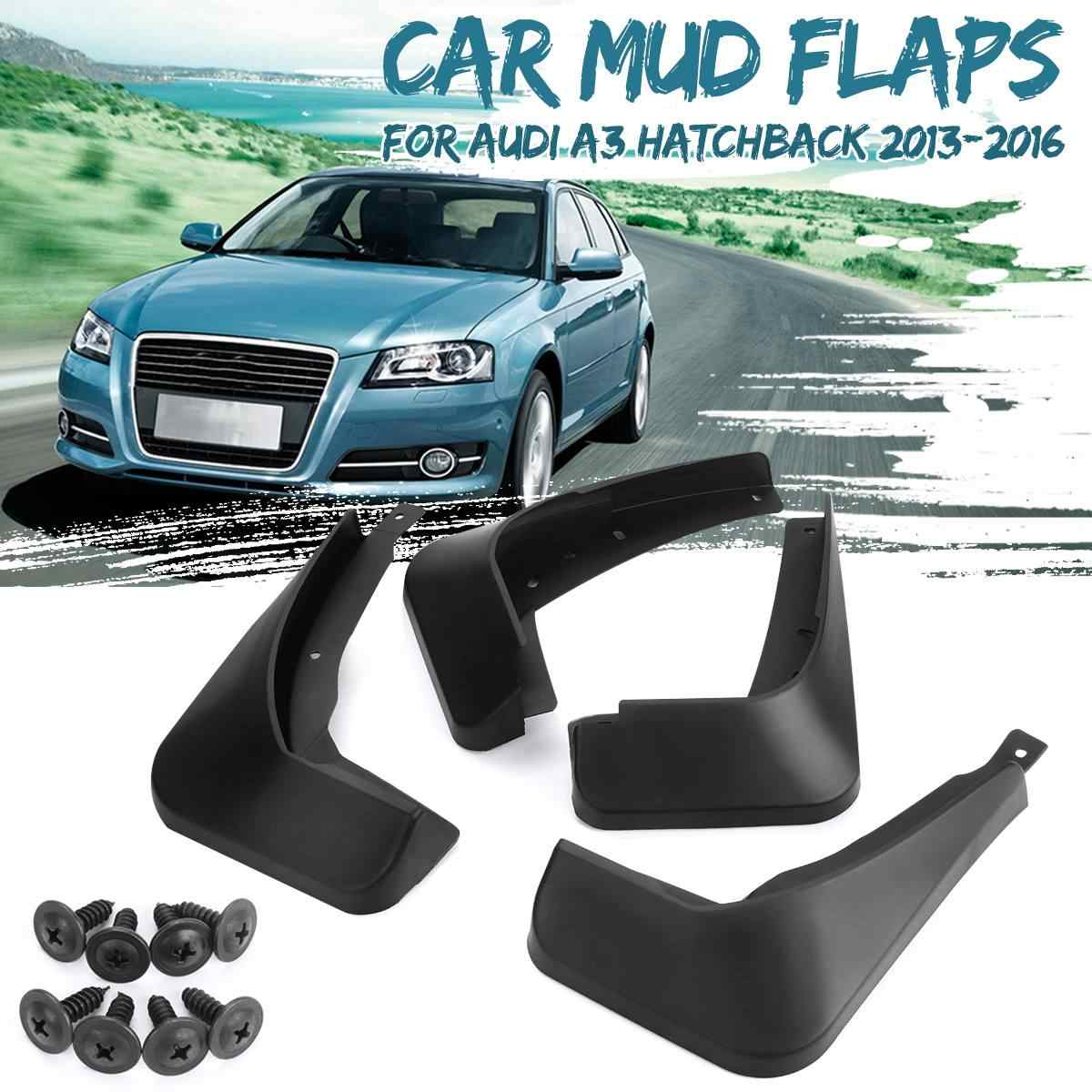 CarMud フラップ Mudflaps Splash Guards フェンダーアウディ A3 A4 A6 (8E 8 1080P B6 B7 C6) q5 Q7 2002-2019