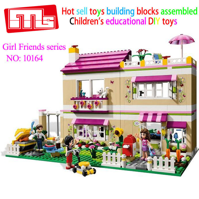 Bela 10164 compatiable with Friends Olivia's House building bricks blocks Toys for children Girl Game Castle Gift 3315 2017 hot sale girls city dream house building brick blocks sets gift toys for children compatible with lepine friends