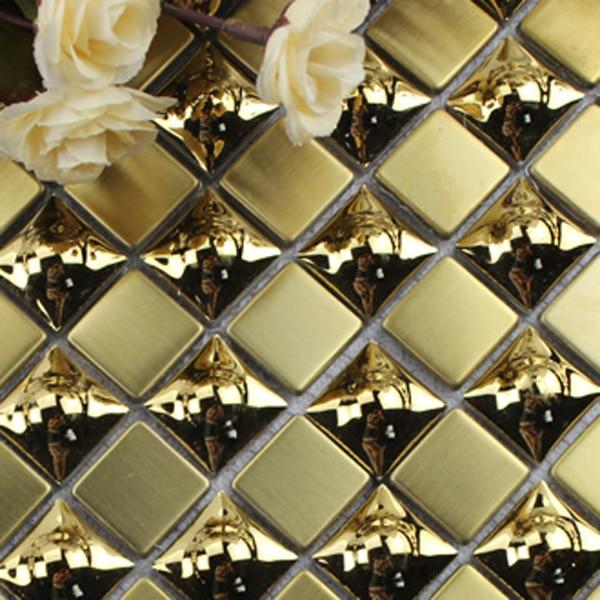 Online toptan alım yapın glass backsplash gold Çin'den glass ...