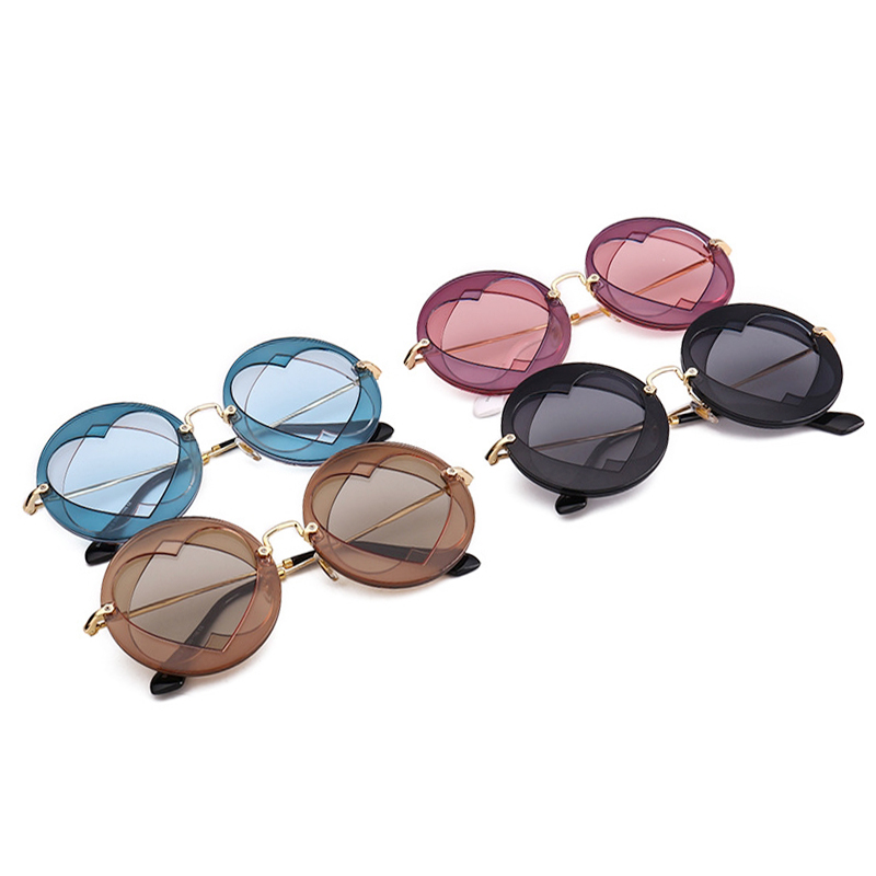 39113cab7720 RSSELDN Summer Round Sunglasses Women Popular Brand Loving Heart Style Sun  Glasses Lady Shades Fashion Female Vintage Glasses-in Sunglasses from  Apparel ...