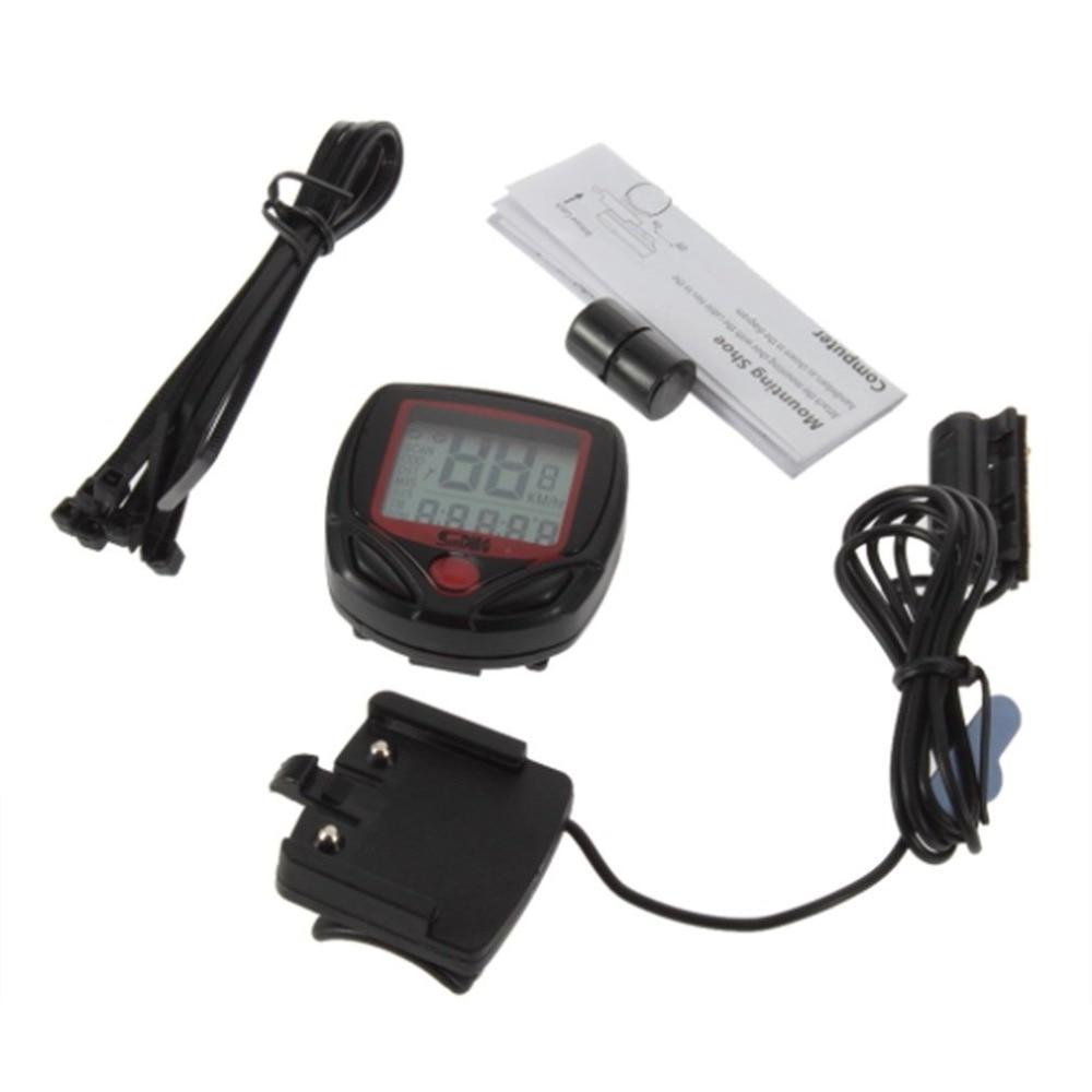 Велосипедный счетчик спидометр цифровой ЖК-экран велосипедный компьютер lcd одометр спидометр секундомер мотоцикл